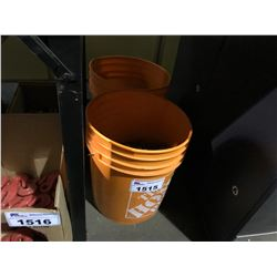 2 ORANGE PAILS WITH CHAIN