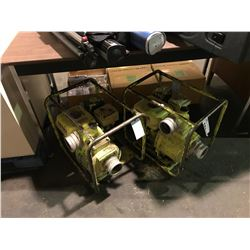 2 YELLOW TRASH PUMPS WITH HONDA ENGINES, 4.0HP TORO 2400 SNOW BLOWER