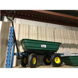 GREEN UTILITY CART WITH DUMP