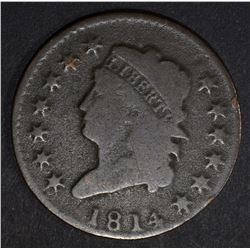 1814 CLASSIC HEAD LARGE CENT, G+