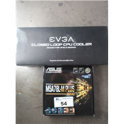 ASUS M5A78L-M PLUS MOTHERBOARD & EVGA CLOSED LOOP CPU COOLING SYSTEM