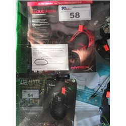 HYPERX CLOUD ALPHA PRO GAMING HEADSET & RAZER ATHERIS BLUETOOTH MOUSE