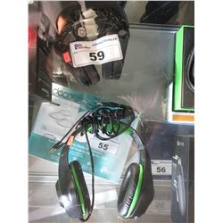 2 ASSORTED GAMING HEADSETS