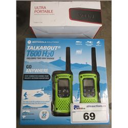 MOTOROLA TALKABOUT T600 H20 TWO-WAY RADIOS & WATERPROOF BLUETOOTH SPEAKER