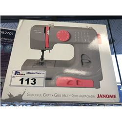 JANOME GRACEFUL GREY SEWING MACHINE