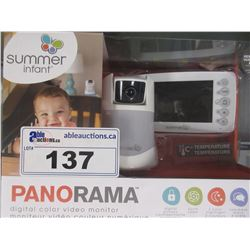 SUMMER INFANT PANORAMA VIDEO BABY MONITOR