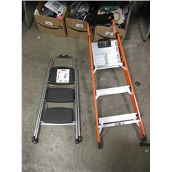 3 STEP RUBBERMAID LADDER & LITTLE GIANT QUICK-N-LITE LADDER
