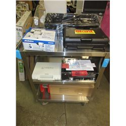 STAINLESS STEEL CART & CONTENTS