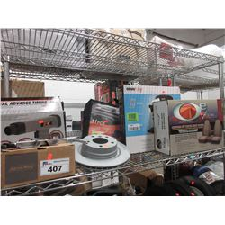 SHELF LOT OF AUTOMOTIVE EQUIPMENT