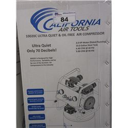 NEW CALIFORNIA AIR TOOLS 10020C ULTRA QUIET & OIL FREE AIR COMPRESSOR
