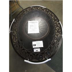 NEW FP-271 OVAL CAST ALUMINUM CONVERTIBLE FIRE PIT