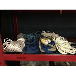 GROUP OF ASSORTED ROPES