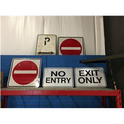 GROUP OF 5 ASSORTED STREET SIGNS
