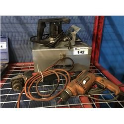PORTER CABLE BISCUIT CUTTER, METABO GRINDER & RIGID DRILL
