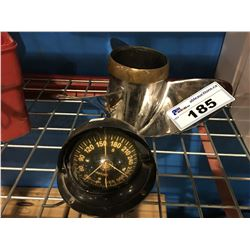 STAINLESS STEEL BOAT PROP AND MARINE COMPASS