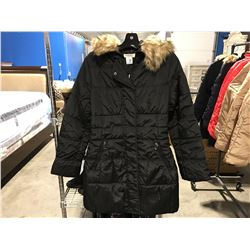 COSTA BLANCA WOMENS BLACK FAUX FUR LINED COLOR WINTER JACKET SIZE M