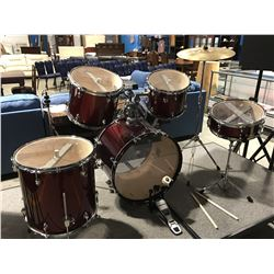 SONIC ELECTRIC DRUM SET WITH YAMAHA DTXPLORER DRUM TRIGGER MODULE (RED)