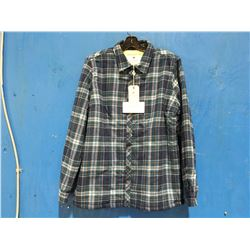 LEE VALLEY IRELAND ESKRA LINED SHIRT - BLUE CHECK SIZE S