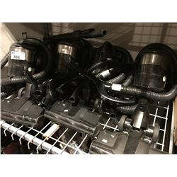 GROUP OF 4 SAMSUNG CANISTER VACUUMS (MOTORS ALL WORKING PARTS REQUIRED)
