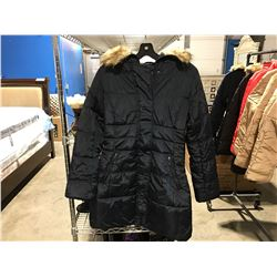 COSTA BLANCA WOMENS NAVY BLUE FAUX FUR LINED COLOR WINTER JACKET SIZE M