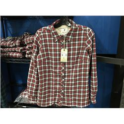 LEE VALLEY IRELAND ESKRA LINED SHIRT - RED/WHITE CHECKER SIZE S