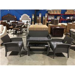 PATIOFLARE GEORGIA 4 PC OUTDOOR/PATIO CONVERSATION SET