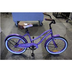 "PURPLE COLUMBIA STERLING 20 CRUISER BIKE WITH 20"" STEEL FRAME"