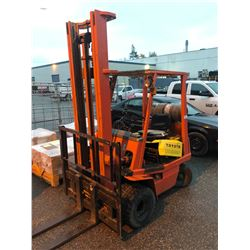 TOYOTA 3000 LB CAPACITY 2 STAGE PROPANE FORKLIFT WITH SIDESHIFT