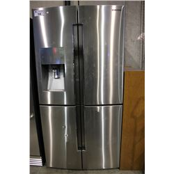 SAMSUNG STAINLESS STEEL FOUR DOOR FRIDGE/FREEZER WITH WATER/ICE