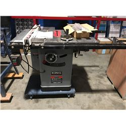 "KING INDUSTRIAL KC-10JCS 10"" CABINET TABLE SAW"