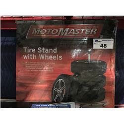 MOTOMASTER TIRE STAND WITH WHEELS