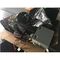 BOX OF MISC. ELECTRONICS AND PARTS