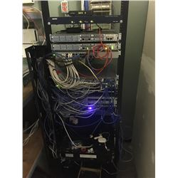 CONTENTS OF SERVER ROOM INC. ALL EQUIPMENT ON SERVER RACK, HP PROLIANT DL380 G7, AND SERVER RACK
