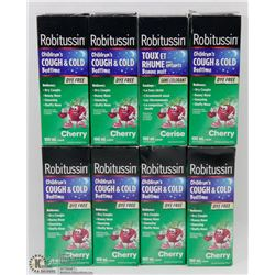 LOT OF ASSORTED ROBITUSSIN CHILDRENS COUGH & COLD