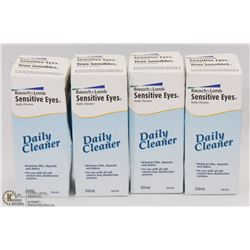 LOT OF 4 SENSITIVE EYES DAILY CONTACT CLEANER