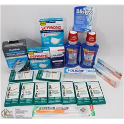 EXTRA LARGE BAG OF ASST ORAL CARE & BLISTEX