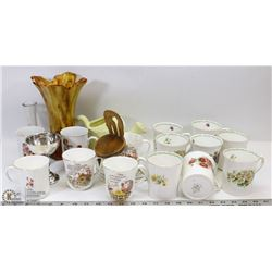 ESTATE BOX OF BONE CHINA INCL QUEENS SPECIAL