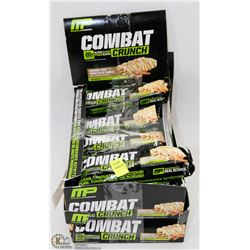 TWO BOXES OF COMBAT CRUNCH GLUTEN FREE HEATH