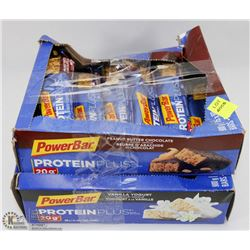 TWO BOXES OF POWER BAR: PROTEIN PLUS BARS