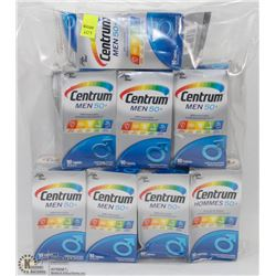 8 BOTTLES OF CENTRUM MEN 50+ MULTIVITAMINS