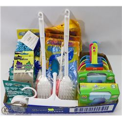 FLAT OF ASSORTED CLEANING SUPPLIES