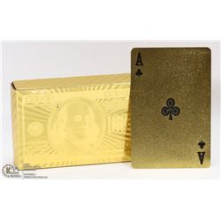 DECK OF GOLD FOIL WATERPROOF PLAYING CARDS
