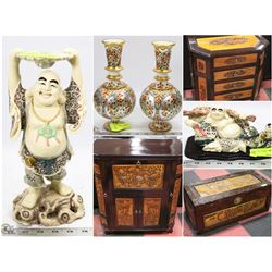 FEATURED ITEMS: FINE CHINA ORNAMENTS AND FURNITURE