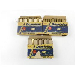 ASSORTED 222 REM AMMO/RELOADS & BRASS