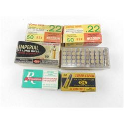 ASSORTED 22 LR AMMO