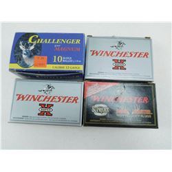 "ASSORTED 12 GA 2 3/4"" SHOT & SLUGS AMMO"