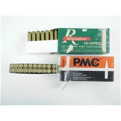ASSORTED 222 REMINGTON AMMO