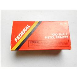 FEDERAL SMALL PISTOL PRIMERS
