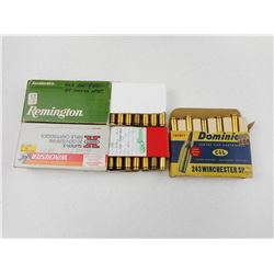 ASSORTED 243 WINCHESTER AMMO/RELOADS