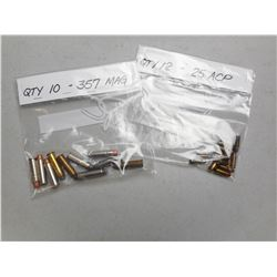 ASSORTED 25 ACP / 357 MAG AMMO